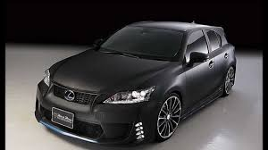 lexus ct 200h 2015 matt black lexus ct black bison by wald youtube