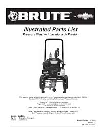 brute 2200 psi pressure washer user manual 8 pages