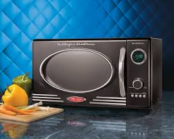 target microwave black friday deals nostalgia retro series 0 9 cf microwave oven in red walmart com