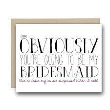 bridesmaid asking cards bridesmaid gifts