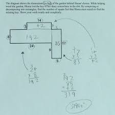 lost key students are asked to find the area of a composite plane