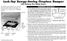 Damper On Fireplace by Chimney Cap Source Lock Top Damper