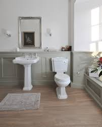 bathroom chair rail ideas raised panel walls bathroom traditional with chair rail gray bath