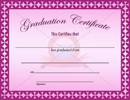 borderless certificate templates graduation certificate template graduation certificate templates