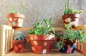 terracotta pots diy painted terracotta pots