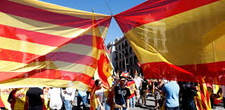 The Flag In Spanish Catalonia Spain And The Economic Consequences Of A Split