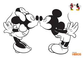Coloriages Mickey et Minnie  Anni Minnie et Mickey  Pinterest  Kind
