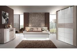 Schlafzimmer Bett Mit Led Schlafzimmer Mit Bett 180 X 200 Cm Und Sideboard Sandeiche Weiss