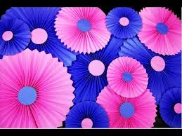 paper fan decorations party decorations with paper rosettes paper fan how to make