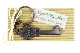 keychain wedding favors antique key heart keychain favor antique key to my heart keychain