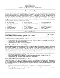 job police captain resume http jobresumesample com 510 job