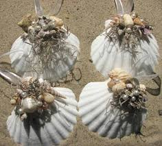 seashell ornaments sally by the sea coastal
