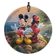 mickey and minnie sweetheart cove kinkade ornament