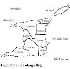 trinidad and tobago coloring pages flag map