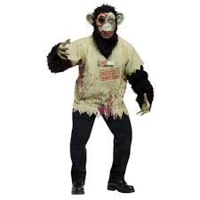 zombie monkey costume chimp halloween 3258