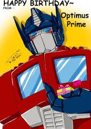 optimus prime birthday happy birthday from optimus p by tc chan on deviantart