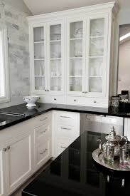 Black And White Tile Kitchen Backsplash by Beautiful Tile Backsplash White Cabinets Black Countertops This