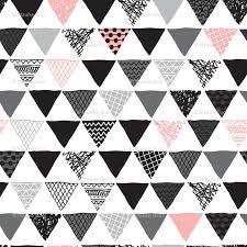 geometric tribal aztec triangle pink modern patterns fabric