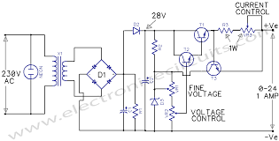 variable power supply 0 24v electronic circuits