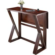 harrington drop leaf high table walnut walmart com
