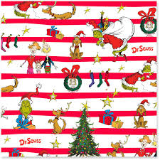 discount christmas wrapping paper dr seuss s how the grinch stole christmas jumbo christmas