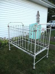 antique wrought iron baby bed crib hospital bed slide down rail