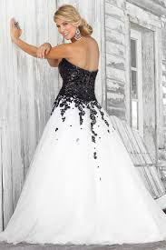 black and white wedding dresses backless wedding dress in black and white combination lstore