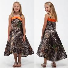 2016 new camo junior bridesmaid dresses spaghetti straps a line hi