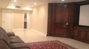 open floor plan finished basement youtube