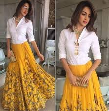 necklace with white shirt images Shop kiaraadvani necklace outfit shirt skirt on seenit 25272 jpg
