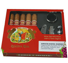 cigar gift set y julieta reserva real toro 5 cigars with wine accessories gift set