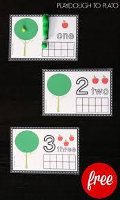 photo frame cards apple ten frame clip cards playdough to plato