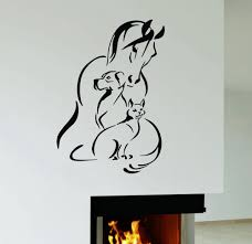 wall decal horse dog cat pet animal shelter veterinary clinic wall decal horse dog cat pet animal shelter veterinary clinic vinyl mural ig2952