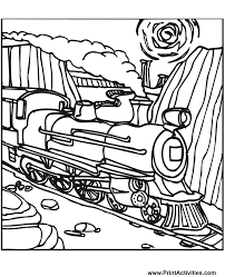 Steam Locomotive Coloring Pages Steam Train Coloring Page Train On The Tracks by Steam Locomotive Coloring Pages
