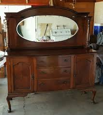 antique queen anne mirrorback sideboard server buffet table