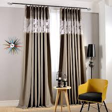 Gray Blackout Curtains High Quality Cotton And Linen Gray Thick Blackout Curtains