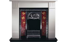 any highlighted insert and clarendon limestone fireplace