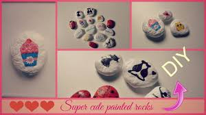 Painted Rocks For Garden by Cute And Easy Diy Painting On Rocks Youtube