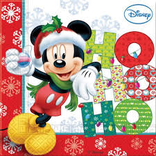 mickey mouse friends christmas party napkins disney