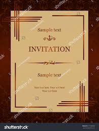 Official Invitation Card Vintage Invitation Card Victorian Pattern Stock Vector 271990040
