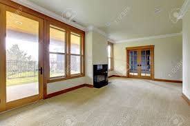 empty large room with fireplace new luxury home interior stock new luxury home interior stock photo 18283820