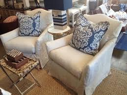 Linen Chair Slipcover Geneva Linen Slipcovered Chair Mecox Gardens