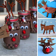 Kids Reindeer Crafts - 14 super cute reindeer crafts for the kids to make this christmas