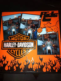 harley davidson wrapping paper rock paper scissors scrap harley davidson scrapbook page