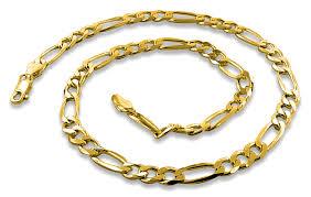 gold plated sterling silver bracelet images Gold plated sterling silver 24 quot figaro chain 5 6mm gif