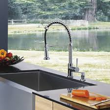kitchen faucets with soap dispenser vigo edison single handle pull spray kitchen faucet with soap
