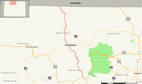 Wyoming Road Map Colorado State Highway 125 Wikipedia