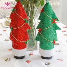 Wine Bottle Home Decor Online Get Cheap Christmas Wine Bottle Cover Aliexpress Com
