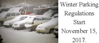 winter overnight parking bylaw starts november 15th in