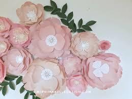 Pink Peonies Nursery Paper Flowers In Blush And Pink Paper Flower Wall Wedding Paper